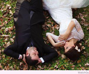 nature, wedding, and couple image