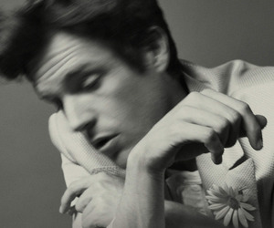 brandon flowers, the desired effect, and black and white image