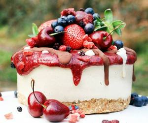 cake, cup cake, and food image