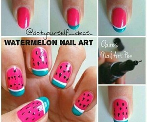 nails, watermelon, and art image