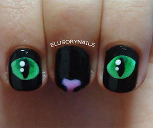 eyes, nails, and black image