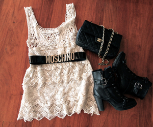 fashion, Moschino, and dress image
