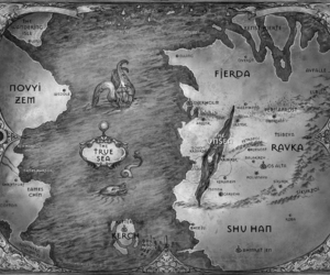 map, shadow and bone, and ruin and rising image