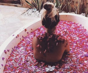 bath, chill, and roses image