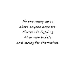care, fighting, and no one cares image