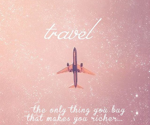 travel, quotes, and pink image