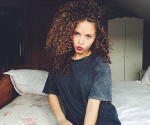 beautiful, lips, and curlyhair image