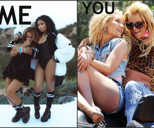 britney spears, nicki minaj, and beyoncé image