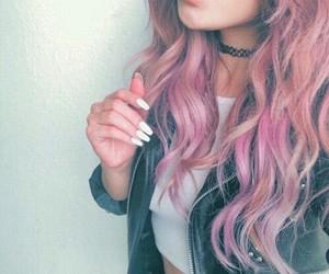 hair, pink, and nails image