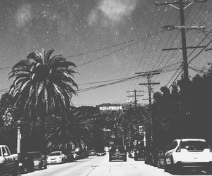 hollywood, black and white, and california image