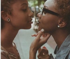 lesbian, couple, and black image