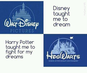 Dream, disney, and harry potter image