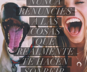 dog, espanol, and frases image