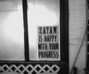 satan, happy, and black and white image
