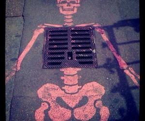 art, skeleton, and street image
