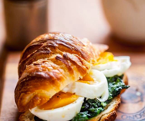food, sandwich, and croissant image