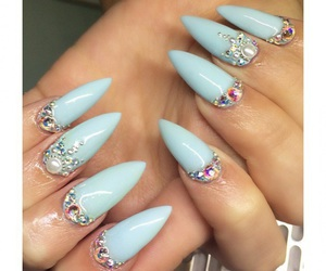 nails blue cute image