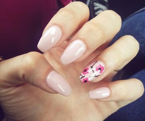 flowers, nails, and rose image