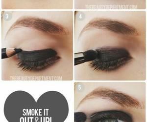 makeup, rock, and eyes image