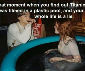 titanic, funny, and lie image