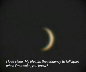 sleep, moon, and quote image