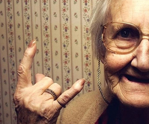 grandma and rock image