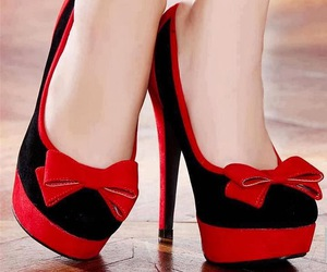 shoes, red, and black image