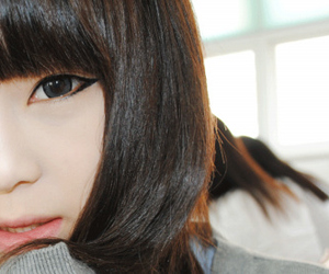 asian, puppy eyes, and girl image