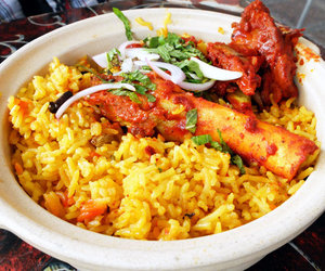 indian food, rice, and biryani image