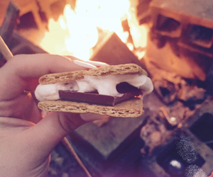 camp, smores, and yummy image