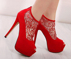 red, shoes, and beauty image