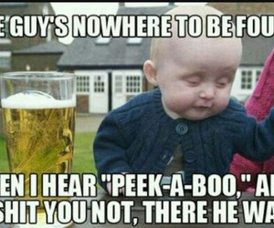 funny, baby, and drunk image