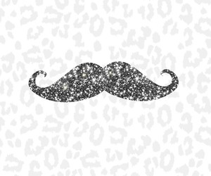 mustache, black, and cute image