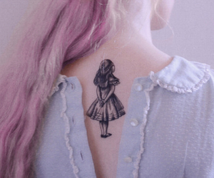 tattoo, alice, and alice in wonderland image