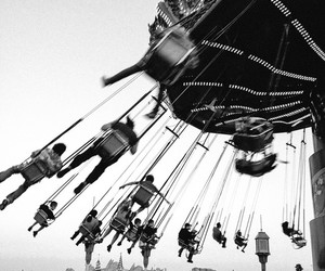 black and white, disney, and swing image