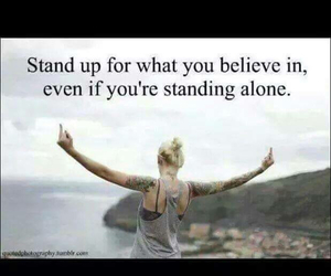 quote and stand up image