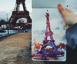 paris, art, and drawing image