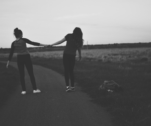 black and white, inspiration, and best friends image