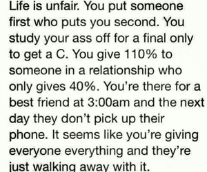 life, unfair, and quote image
