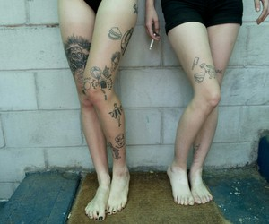 tattoo, grunge, and legs image