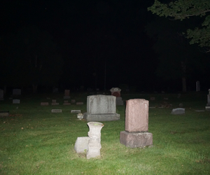 cemetery, grunge, and night image