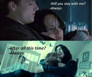 harry potter, always, and the hunger games image
