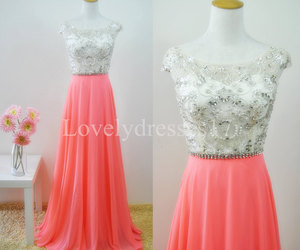 beaded, prom dresses 2015, and pink dresses image