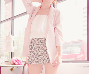 korean fashion, outfit, and pink image