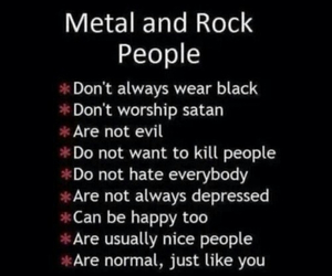 rock, metal, and music image