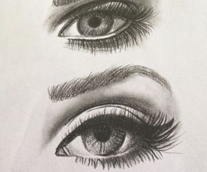 drawing, eye, and cute image