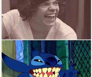Harry Styles, one direction, and stitch image