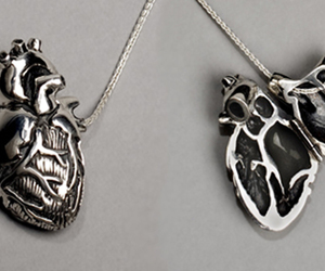 heart, necklace, and silver image