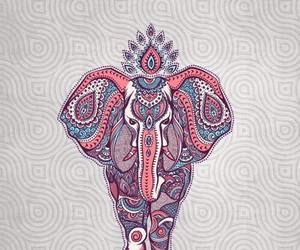 wallpaper, elephant, and animal image