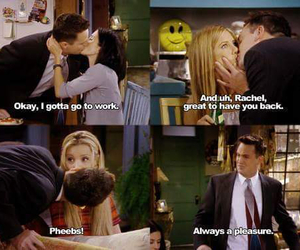 kiss, friends, and chandler bing image